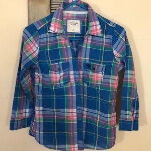 Abercrombie & Fitch plaid blouse